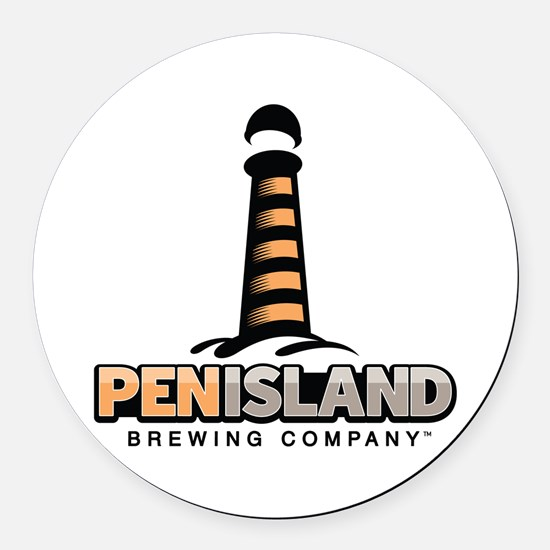 Pen Island Brewing Company Round Car Magnet
