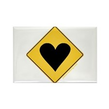 Crossing Zone Heart Rectangle Magnet