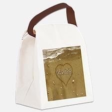 Malik Beach Love Canvas Lunch Bag
