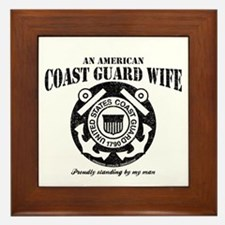 An American Coastie Wife Framed Tile
