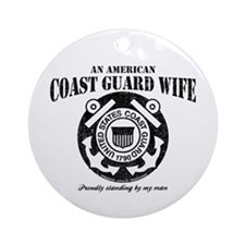 An American Coastie Wife Ornament (Round)