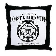 An American Coastie Wife Throw Pillow