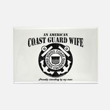 An American Coastie Wife Rectangle Magnet