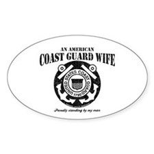 An American Coastie Wife Oval Decal