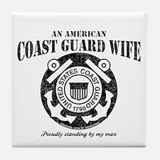 An American Coastie Wife Tile Coaster