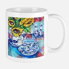 Blue Danube & Sunflowers Mugs