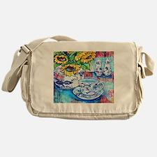 Blue Danube & Sunflowers Messenger Bag