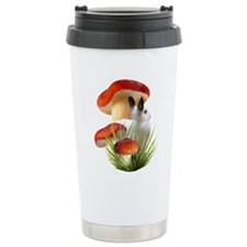 Red Mushroom Rabbit Travel Mug