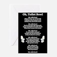 """Oh, Toilet Bowl"" Greeting Card"