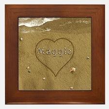 Maggie Beach Love Framed Tile