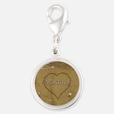 Maddie Beach Love Silver Round Charm