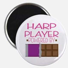 Harp Player funny Magnet