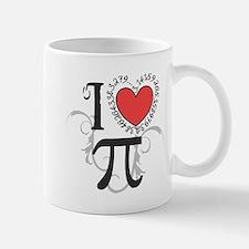 I Heart Pi (right) Mugs