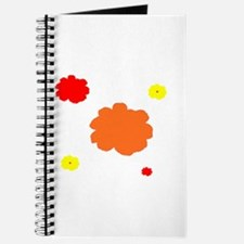 Orange Red Floral for Amy Journal