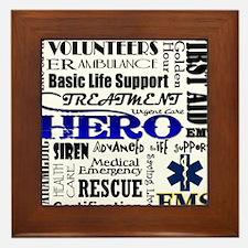 EMT Hero Subway Art Framed Tile