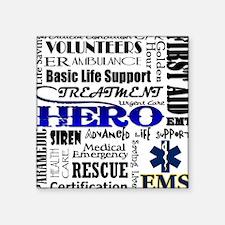 "EMT Hero Subway Art Square Sticker 3"" x 3"""