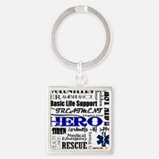 EMT Hero Subway Art Square Keychain