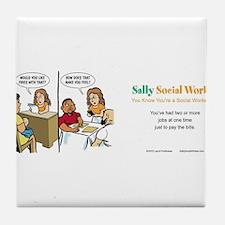 Social lcsw Tile Coaster