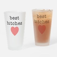 Cute Best friends Drinking Glass