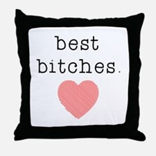 Unique Best friends Throw Pillow