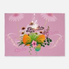 Happy easter, easter design with flowers and easte