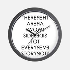 Two Sides to Every Story Wall Clock