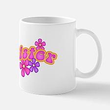 Hip Flowers Big Sister Pink Mug