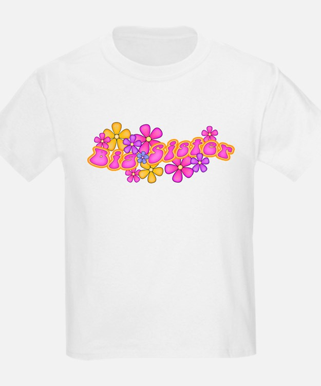 Hip Flowers Big Sister Pink T-Shirt
