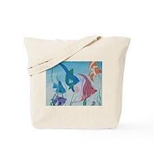 Fish and cat Tote Bag
