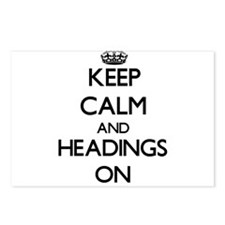 Keep Calm and Headings ON Postcards (Package of 8)