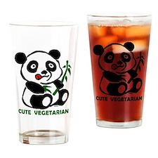 cute vegetarian Drinking Glass