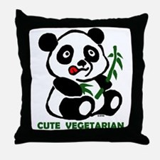cute vegetarian Throw Pillow