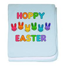 Hoppy Easter - Rainbow Bunnies baby blanket