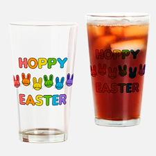 Hoppy Easter - Rainbow Bunnies Drinking Glass