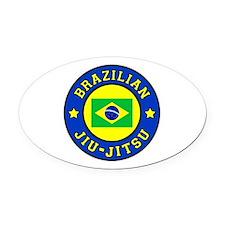 Brazilian Jiu-Jitsu Oval Car Magnet