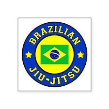 "Brazilian Jiu-Jitsu Square Sticker 3"" x 3"""