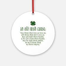 An Old irish curse Ornament (Round)
