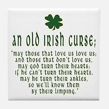 An Old irish curse Tile Coaster