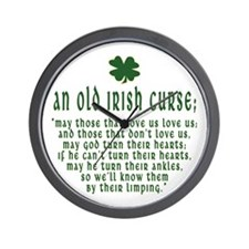An Old irish curse Wall Clock