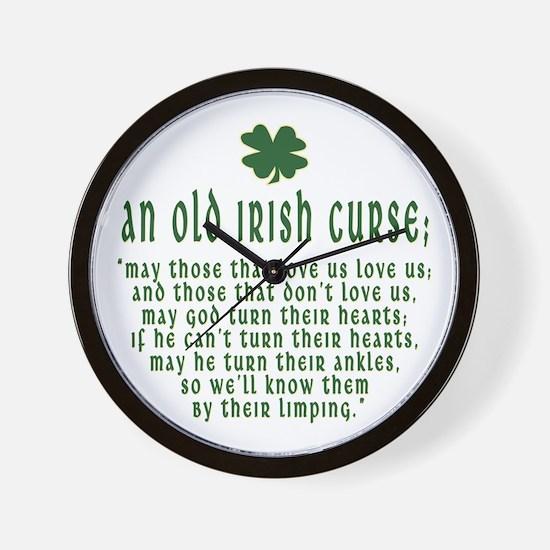 An Old irish curse Wall Clock