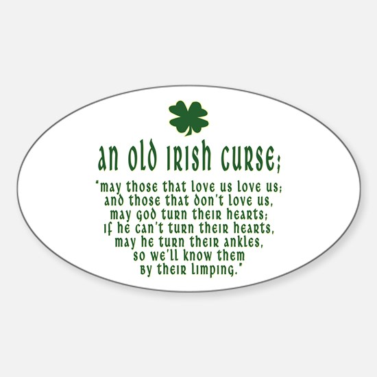 An Old irish curse Oval Decal