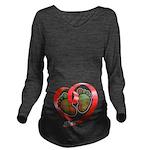 Kerr Tartan Baby Fee Long Sleeve Maternity T-Shirt