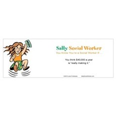 Sally SocialWorker Strikes it Rich  Framed Print
