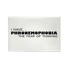 Thinking-Phobia Rectangle Magnet