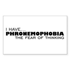 Thinking-Phobia Rectangle Decal