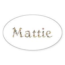 Mattie Seashells Oval Decal