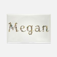 Megan Seashells Rectangle Magnet