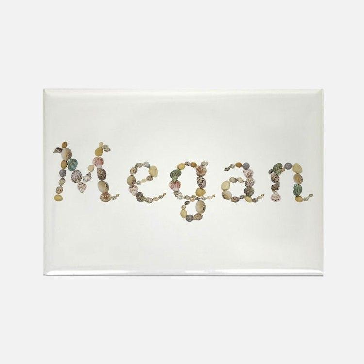 Megan Seashells Rectangle Magnet