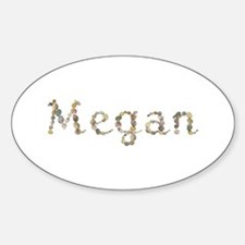Megan Seashells Oval Decal