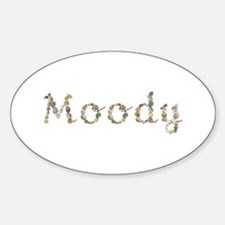 Moody Seashells Oval Decal